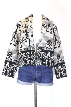 Loot Vintage Jacket M / Multi Women's Monochrome Tapestry Jacket - Multi M