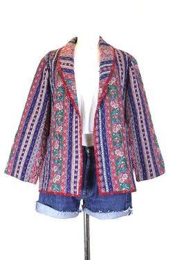 Loot Vintage Jacket M / Multi Women's Quilted Floral Tapestry Jacket - Multi M