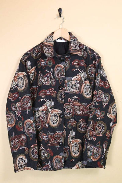 Loot Vintage Jacket Motorcycle Tapestry Jacket