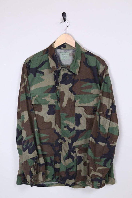 1990s Men's Military Jacket - Green M