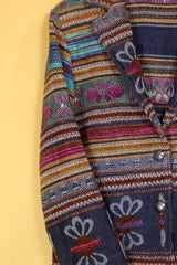 Loot Vintage Jacket Rainbow Stripe Jacket