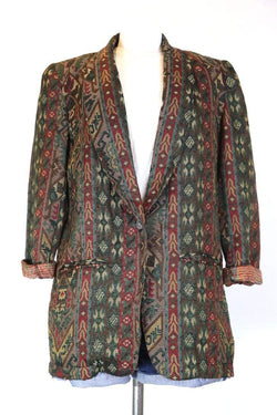 Loot Vintage Jacket s / Multi Women's Dark Floral Blazer Jacket - Multi S