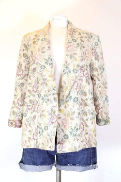 Loot Vintage Jacket s / Multi Women's Floral Blazer Jacket - Multi S