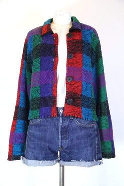 Loot Vintage Jacket S / Multi Women's Knitted Tapestry Jacket - Multi S