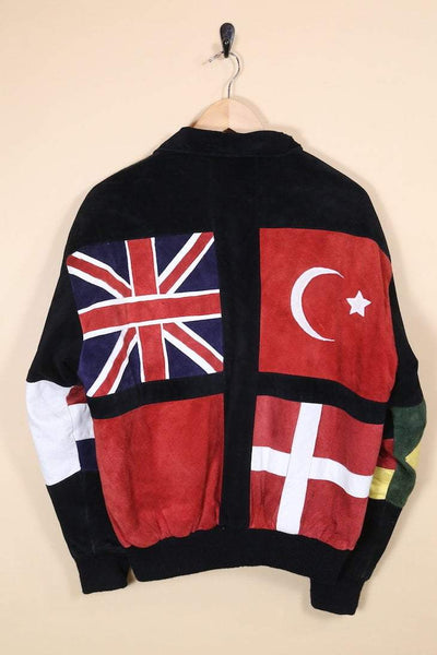 Loot Vintage Jacket Suede World Flag Jacket