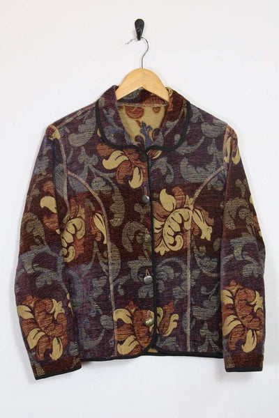 Loot Vintage Jacket Tapestry Cropped Jacket