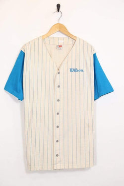 Loot Vintage Men's Baseball Top - White L