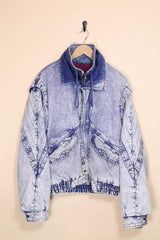 Loot Vintage Jacket Vintage Acid Wash Bomber Jacket