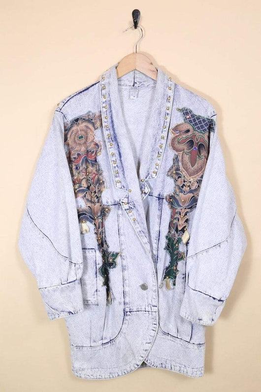 Loot Vintage Jacket Vintage Acid Wash Denim Jacket