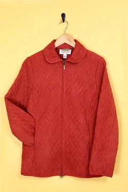 Loot Vintage Jacket Vintage Apple Red Quilted Jacket