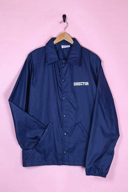 Loot Vintage Jacket Vintage Blue Director Coach Jacket