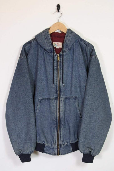 Loot Vintage Jacket Vintage Denim Hooded Bomber Jacket