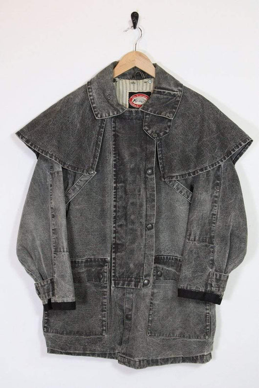 Loot Vintage Jacket Vintage Denim Jacket - Acid Wash Black