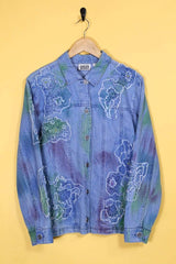 Loot Vintage Jacket Vintage Embroidered Denim Jacket