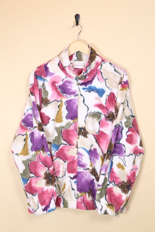 Loot Vintage Jacket Vintage Floral Fleece Jacket