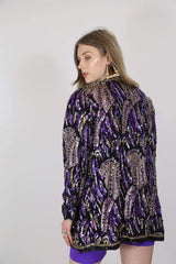 Loot Vintage Jacket Violet Sequin Jacket