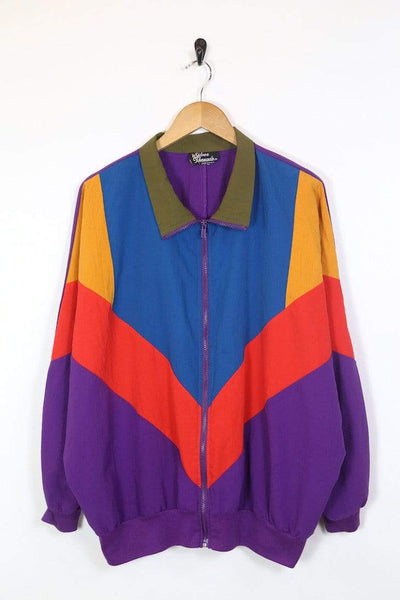 Loot Vintage Jacket Women's Colour Block Jacket - Multi XL