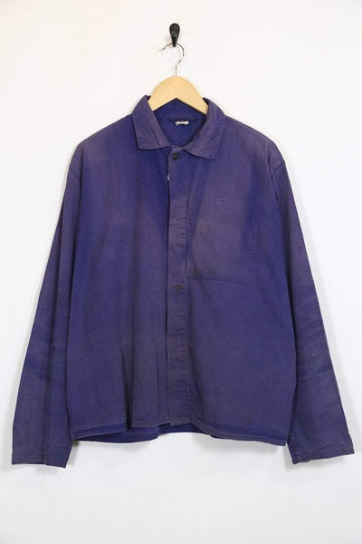 Loot Vintage Jacket XL / Blue / Cotton Men's Chore Workwear Jacket - Blue XL