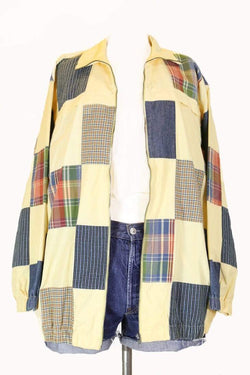 Loot Vintage Jacket XL / Multi Women's Patchwork Bomber Jacket - Multi XL