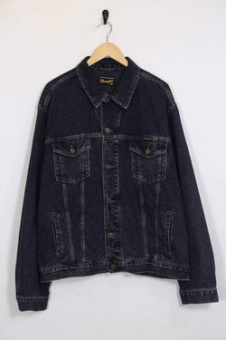 Loot Vintage Jacket XXL / Blue / Cotton Men's Wrangler Denim Jacket - Blue XXL