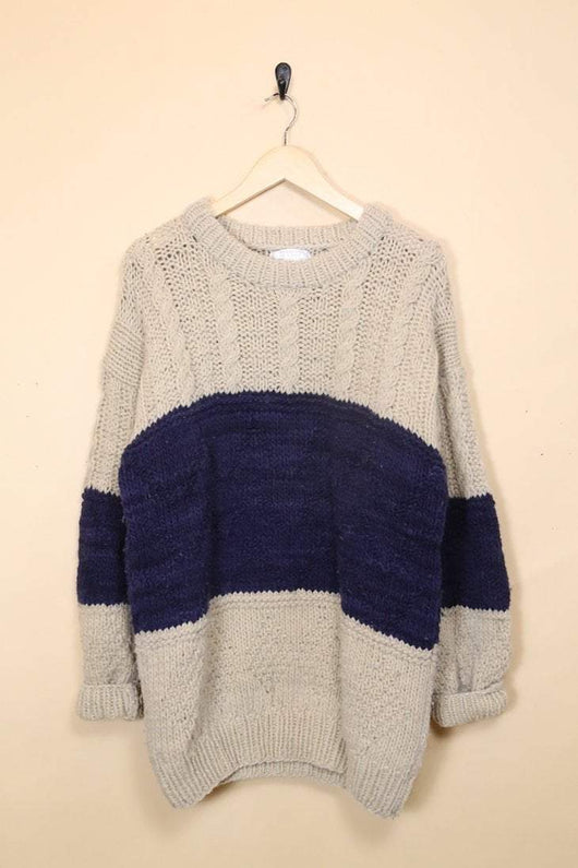 Loot Vintage Jumper Chunky Striped Jumper