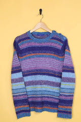 Loot Vintage Jumper Speckled Stripe Jumper