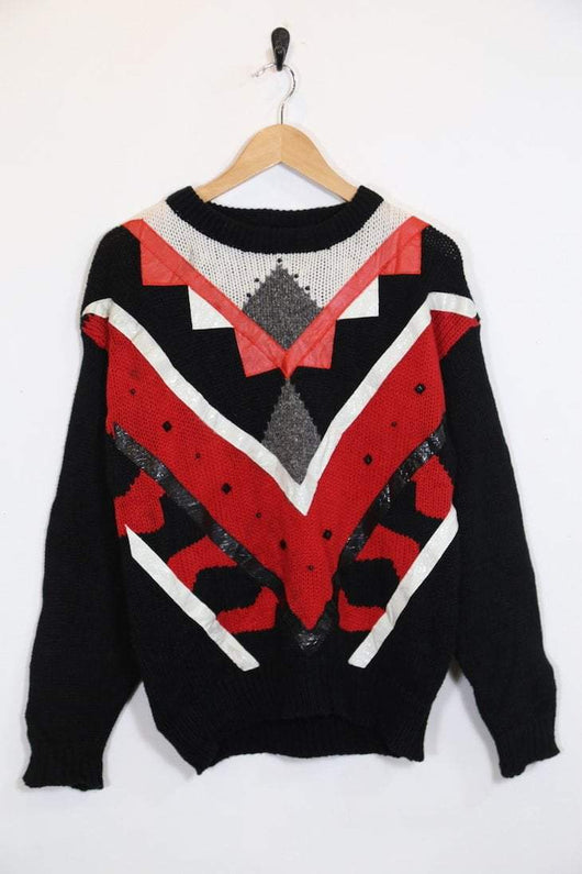 Vintage Abstract Print Jumper