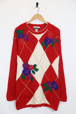 Loot Vintage Jumper Vintage Embroidered Longline Jumper