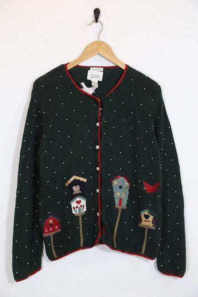 Loot Vintage Jumper Vintage Embroidered pearl Cardigan