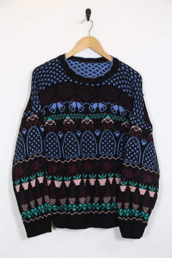 Loot Vintage Jumper Vintage Patterned Jumper
