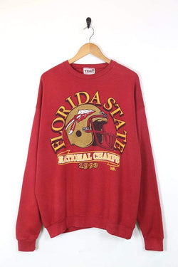 1990s Men's Florida State Champions Printed Sweatshirt - Red XL