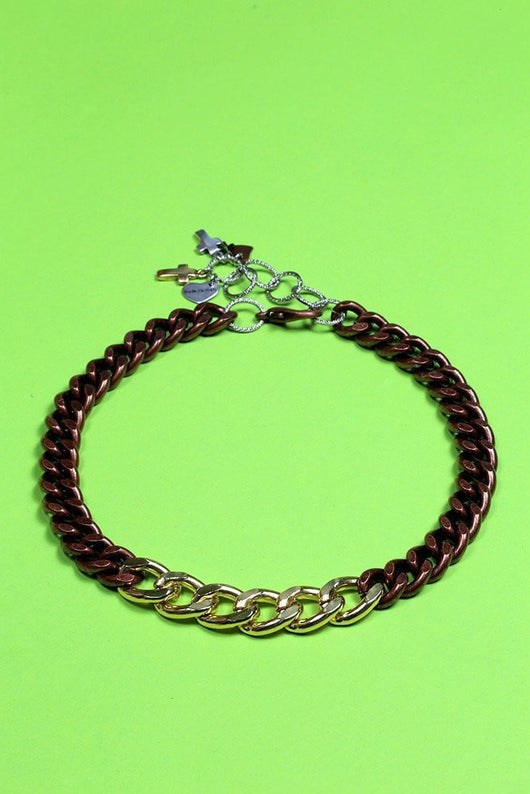 Women's Double Choker Necklace - Brown - Loot Vintage