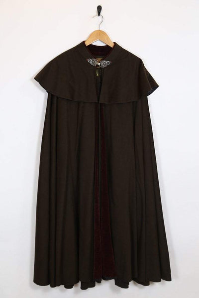 Women's 1950's Madrid Cape - Brown ONE SIZE