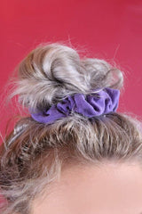 Loot Vintage Scrunchie Purple Scrunchie