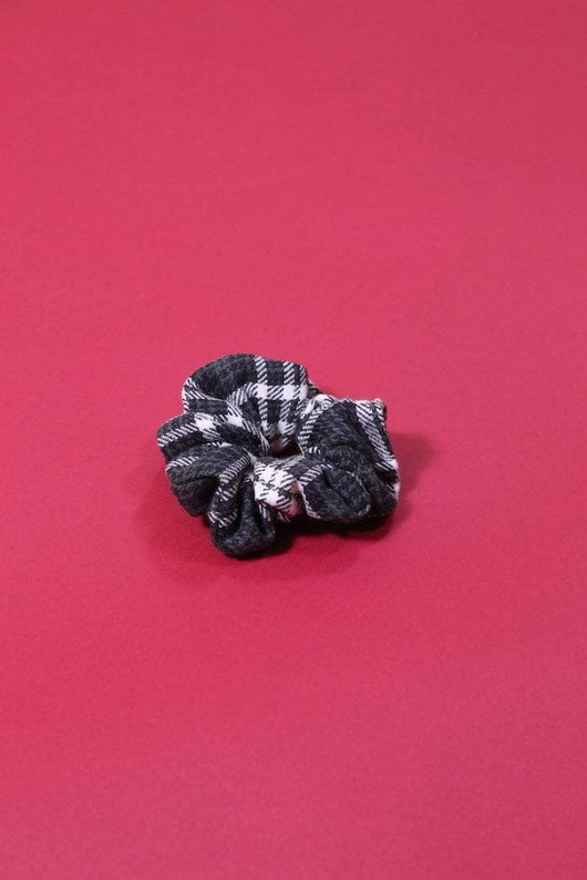 Loot Vintage Scrunchie Vintage Reworked Tartan Scrunchie