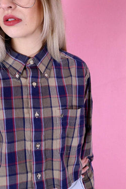 Loot Vintage Shirt 12 / Brown Vintage Reworked Multi Checked Shirt