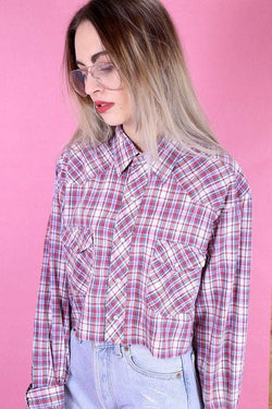 Reworked Checked Shirt - Red M - Loot Vintage