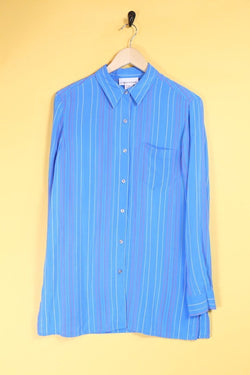 Loot Vintage Shirt Blue Pin Stripe Shirt