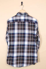 Loot Vintage Shirt Coffee Checked Shirt