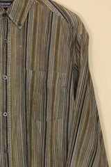 Loot Vintage Shirt Corduroy Striped Shirt