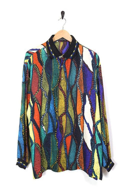 Men's Abstract Printed Shirt - Multi L