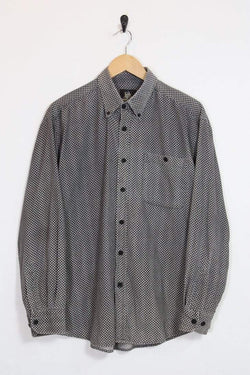 Loot Vintage Shirt L / grey Grey and Black Checkered Cord Shirt