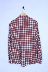 Loot Vintage Shirt Large / Red Red Checkered Flannel Shirt