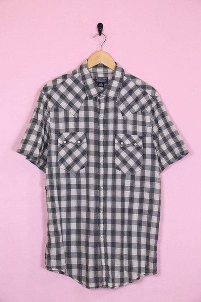 Loot Vintage Shirt Medium / Black Vintage Ralph Lauren Black Checkered Shirt