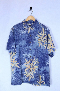 Loot Vintage Shirt Medium / Blue Vintage Hawaiian Shirt