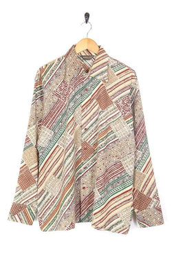 Men's 70s Patterned Shirt - Multi XL