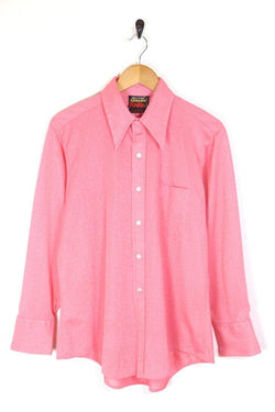 Men's 70s Collar Shirt - Pink L