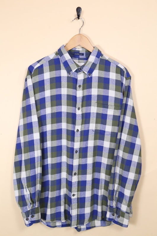 Loot Vintage Shirt Muted Tones Checked Shirt