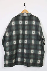 Loot Vintage Shirt Padded Quilt Lined Checked Shirt