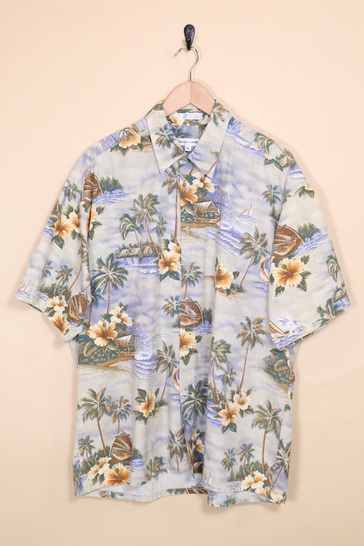 Loot Vintage Shirt Palm Print Hawaiian Shirt